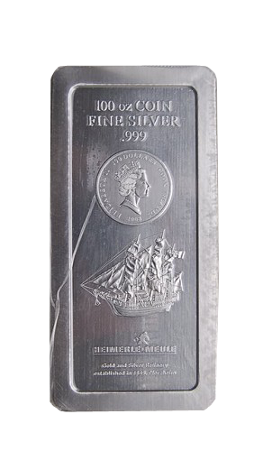 100 troy ounce Cook Islands muntbaar